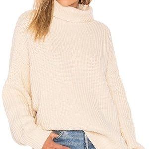 Free People 'Swim To Deep' Cream Oversized Sweater